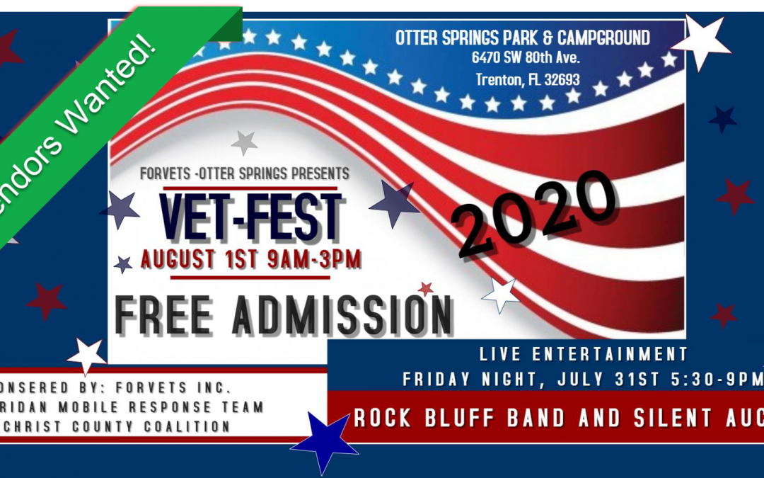 Sponsors and Vendors of the 4th Annual Vet-Fest at Otter Springs ForVets Inc.